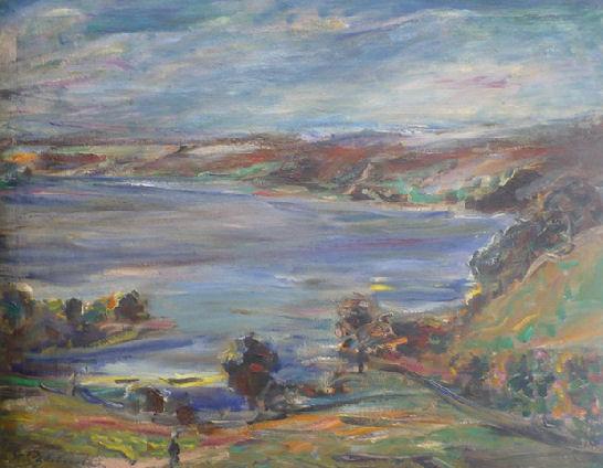 """Stanisław Chlebowski, """"Na Kaszubach"""", olej"""