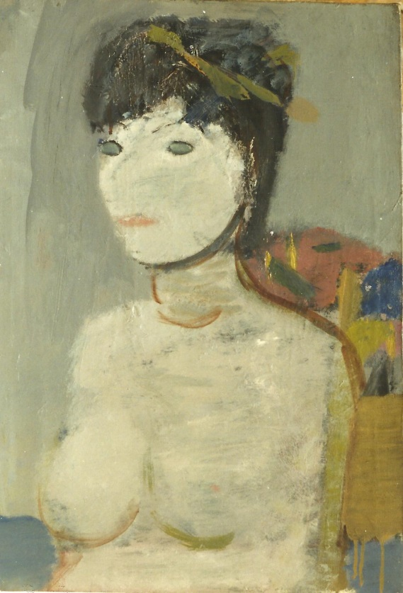 Artur Nacht-Samborski, Półakt kobiety, ok. 1965 r. olej, płótno